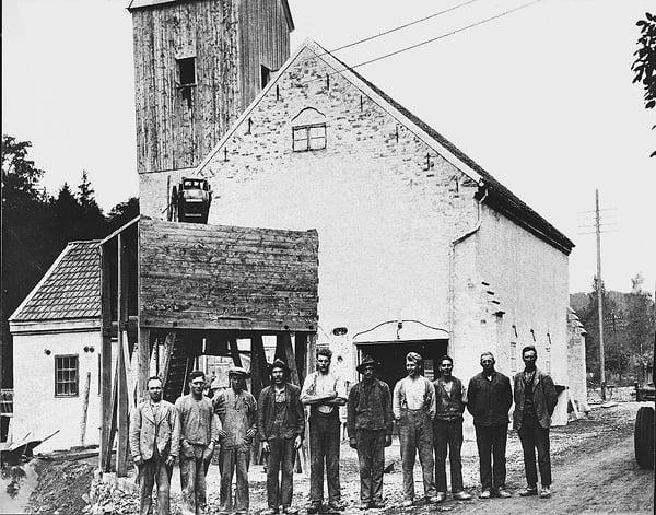 Kalkmølla ved Franzefossen 1919