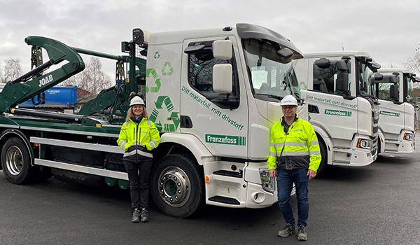Franzefoss Gjenvinning reduserer utslipp av klimagasser ved å ta i bruk biogassbiler