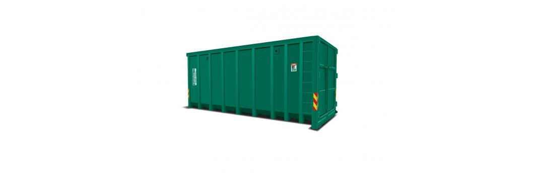 Forsterket krokcontainer m/ bakdører bilde