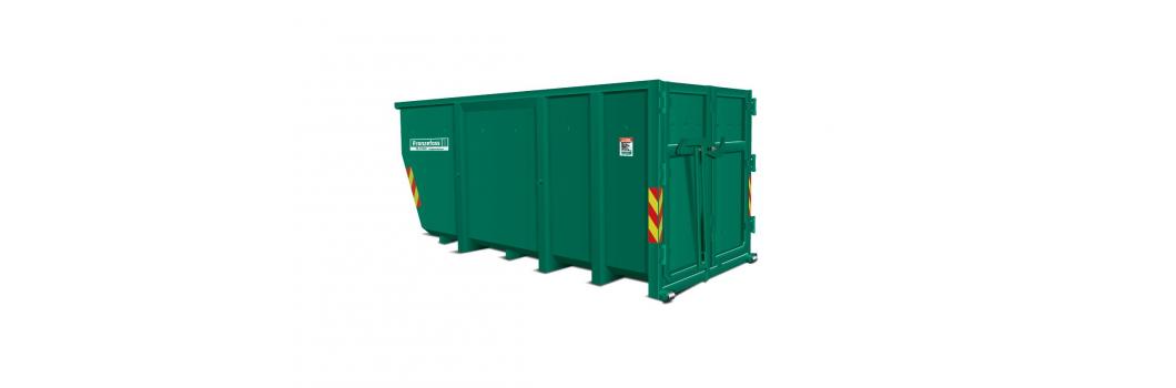 Åpen liftcontainer m/ sidehengslede bakdører bilde