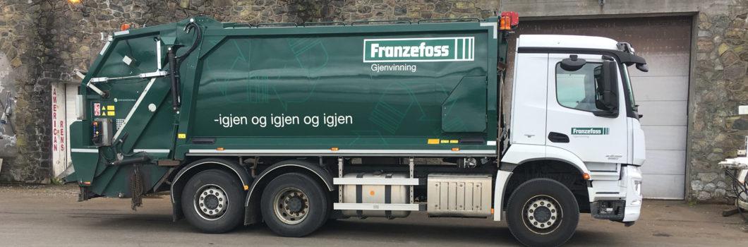 Franzefoss blir stadig grønnere